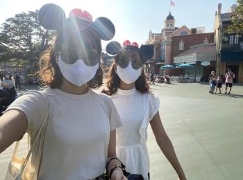 夢の国。「ディズニーランド」へ行って参りました。Disneyコーデ。今の混雑状況は?感染対策は?