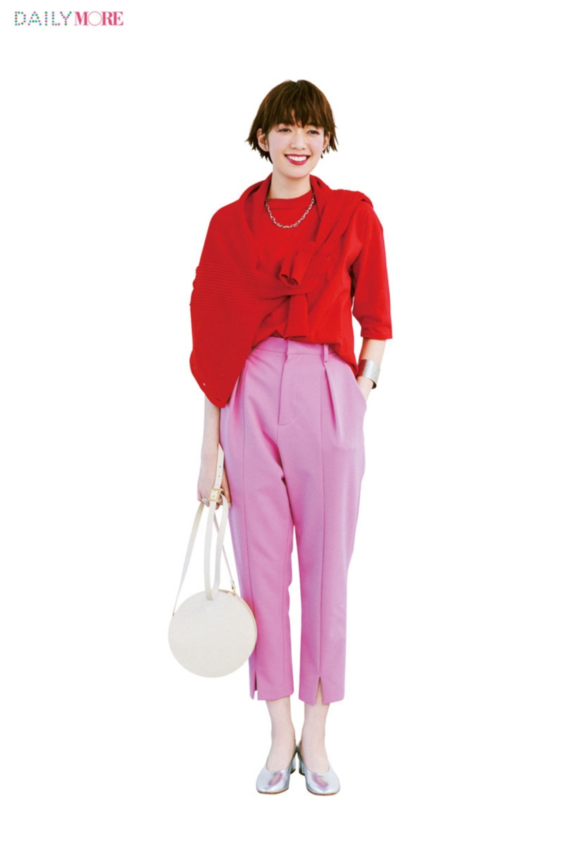 旬のきれい色×きれい色コーデ。【赤×ピンク】と【イエロー×グリーン】この組み合わせが最強説!!!_1_2