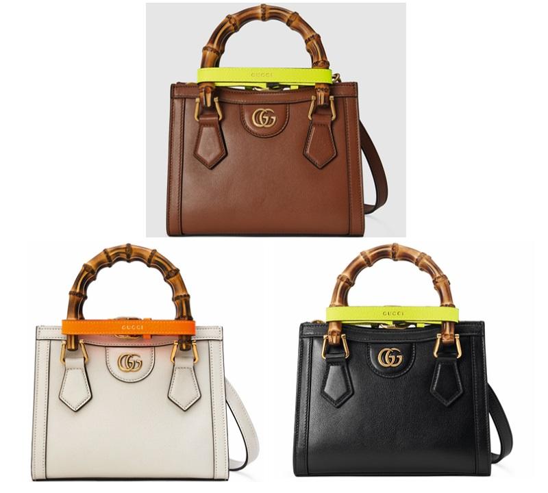グッチの新作バッグ「グッチダイアナ」ミニサイズ、ベーシックカラーの3つ