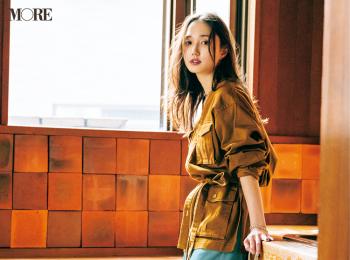 【今日のコーデ】<鈴木友菜>簡単おしゃれにスタイルアップ!ベルトつきシャツジャケットを秋のワードローブに加えて