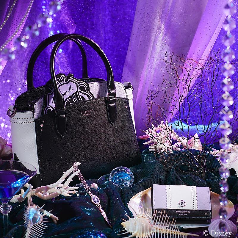 オクタヴィネル寮をイメージしたハンドバッグ、ミニ財布、チャームの写真