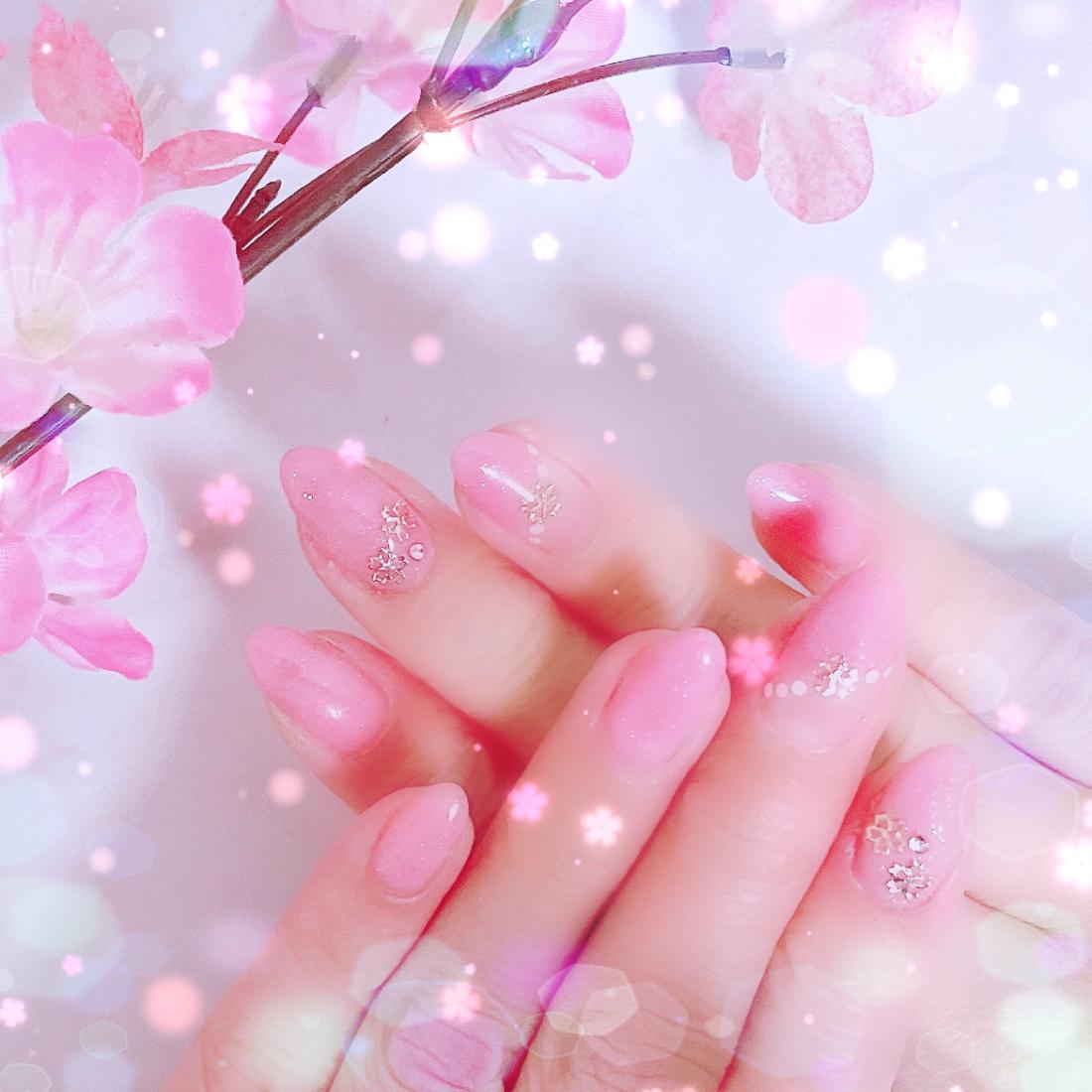 先取り✿ฺ ♡春ネイル♡✿ฺもうすぐ、春本番ですね。暖かい日も増えてきてなんだか♡ほんわか気分(❁´ω`❁)*✲゚*_4
