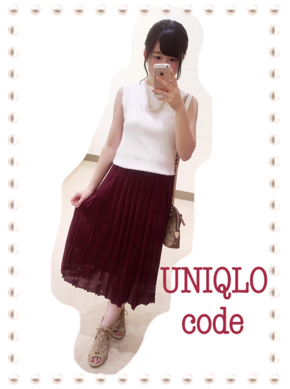 ユニクロ新作シフォンプリーツミディスカートを着てまったり夏休み♡_2
