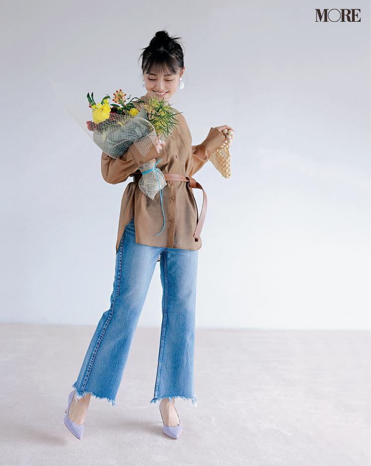 【4990円の透けるシャツ】の実力はいかほどか⁉︎ 内田理央がオンオフ着回し_4
