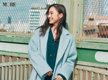 【今日のコーデ】<鈴木友菜>水色のビッグチェスターコートで冬コーデに新しい風を