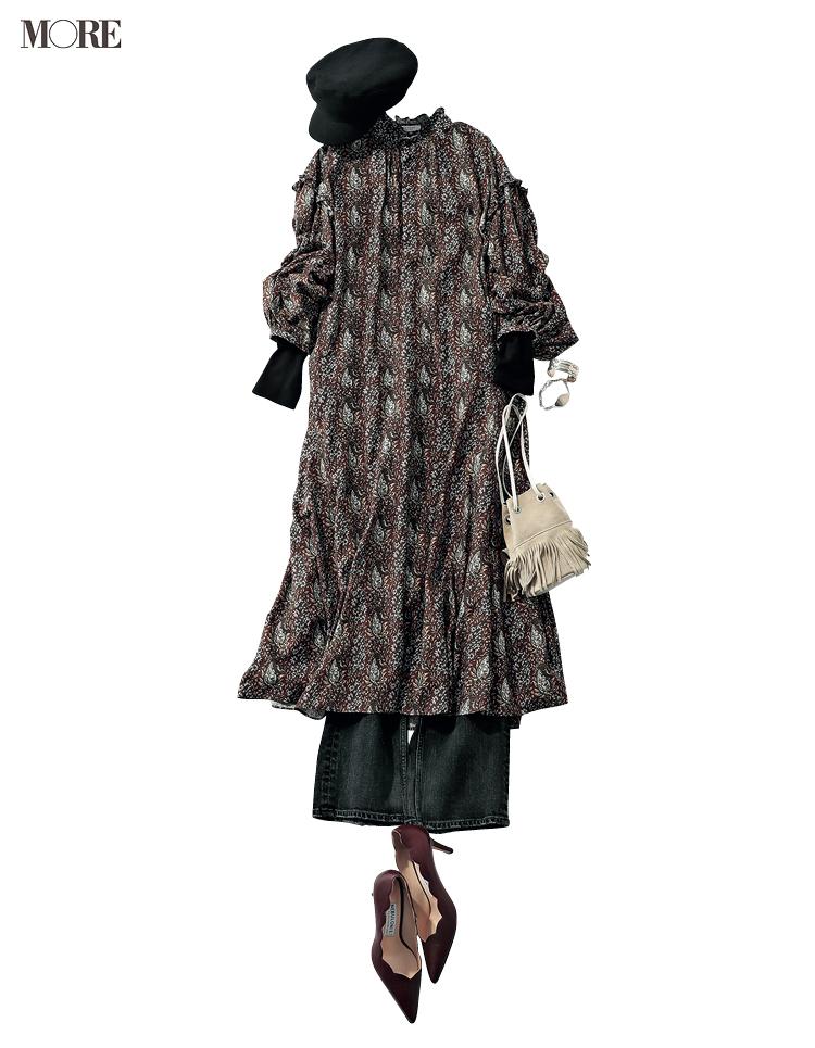 """本田翼が秋の""""週3アイテム""""で魅せます! 茶系のジャケットとワンピース、たとえばこんな着こなしで♡_6"""