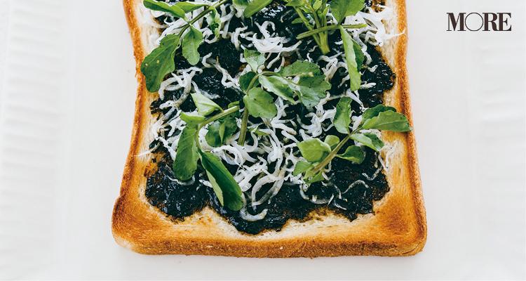 食パン×海苔バター=和風激うまトースト♡ のりの佃煮にバターを加えた和洋折衷な味わいは、パスタと混ぜるのもおすすめ_1