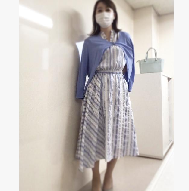 【オフィスコーデ】休みの日も着たい涼しげワンピース_3