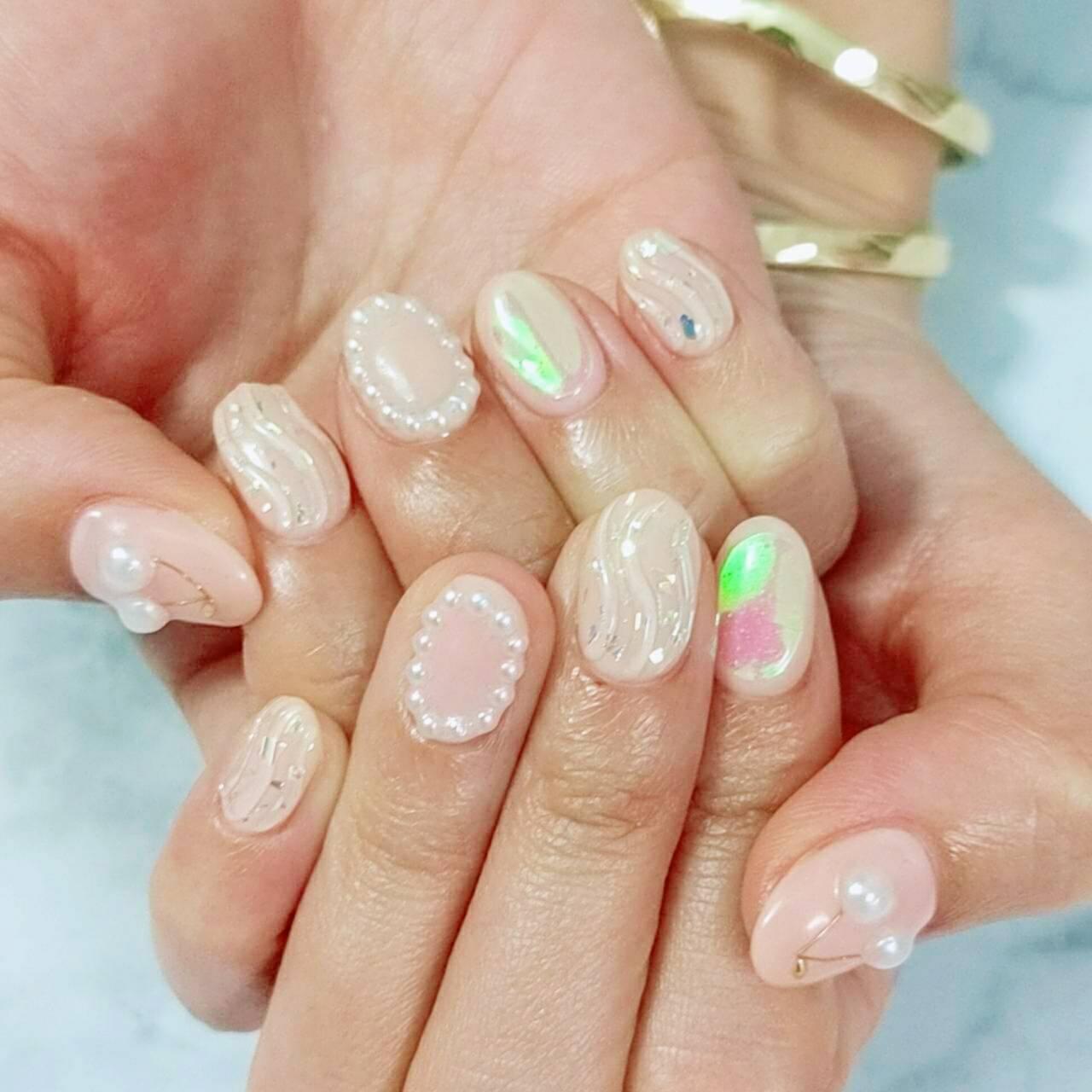 【夏ネイルデザイン】ピンク×ミラーネイルで、憂鬱な梅雨も吹っ飛ばす!!_1