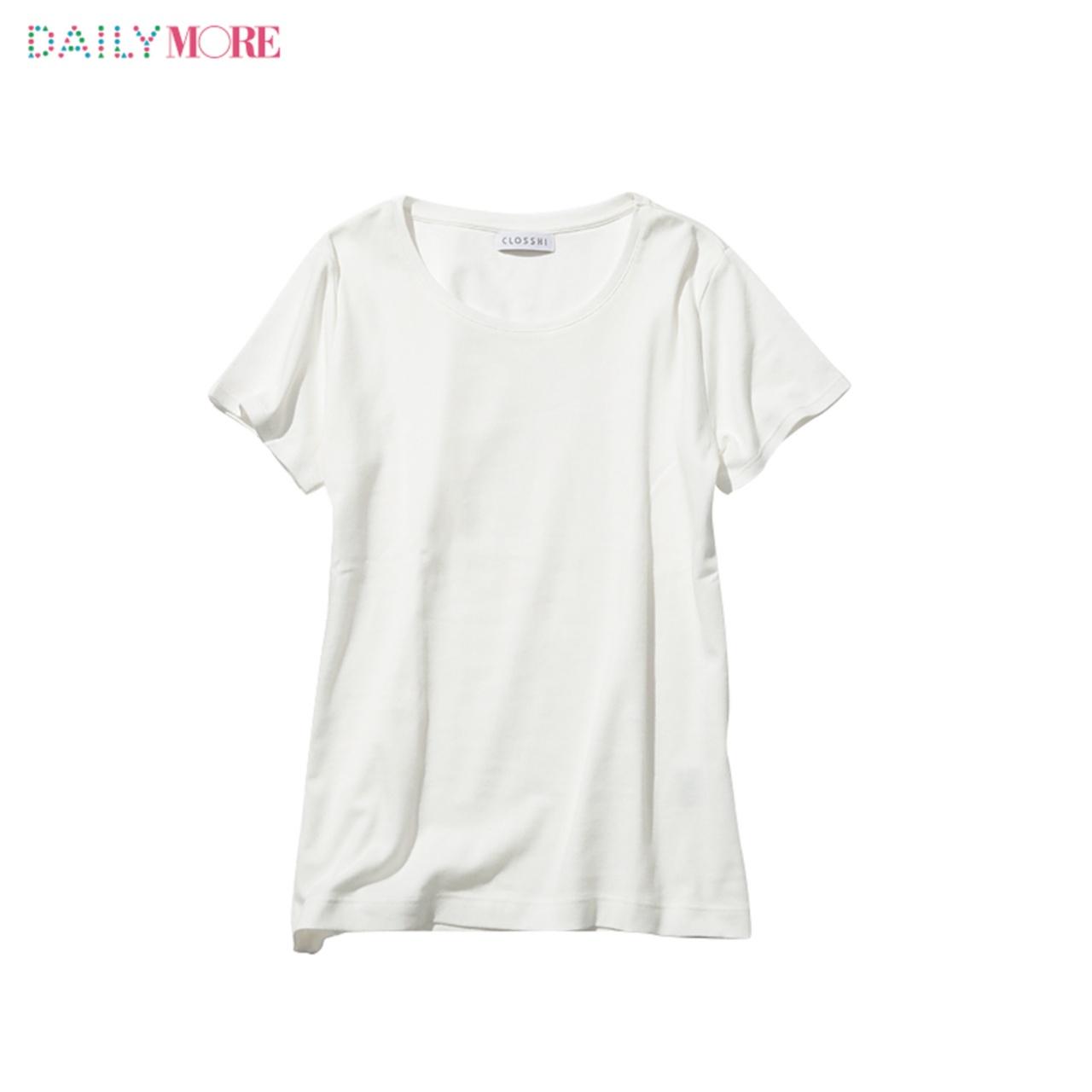 【ユニクロ・GU・しまむら】3大プチプラブランドの「白Tシャツ」、MOREがくらべてみました_2_2