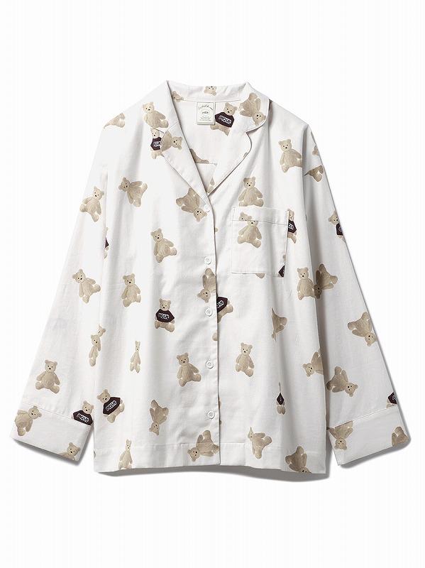 ベアネルシャツパジャマ シャツ