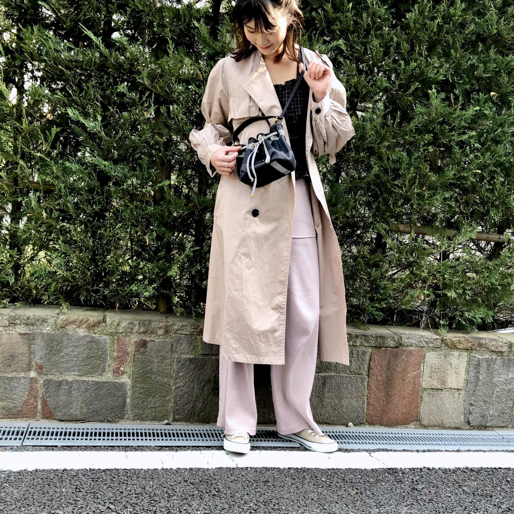 スタイルよく見えるバッグが主役❤️GU人気アイテムでHigh&Lowミックスコーデ!_1