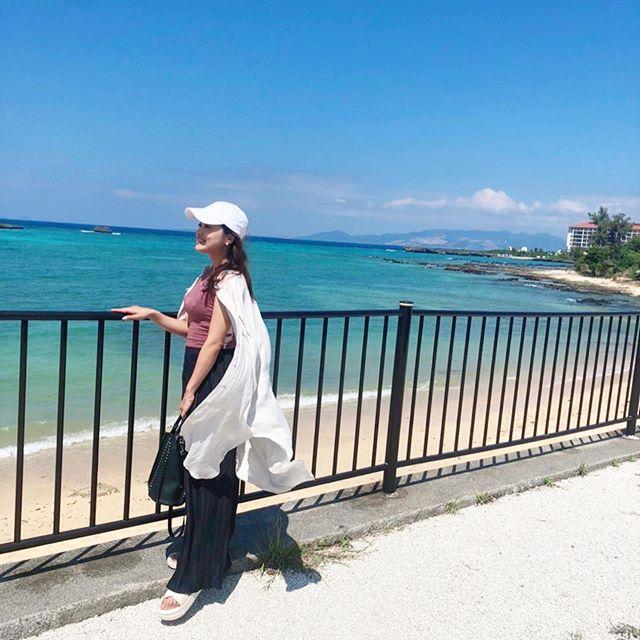 Premiumインフルエンサーズのインスタ拝見! 中山柚希さんは、沖縄の最高にきれいな青い海と青い空をシェア♡ _1
