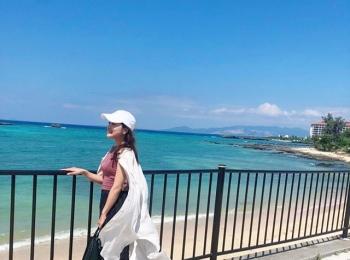 Premiumインフルエンサーズのインスタ拝見! 中山柚希さんは、沖縄の最高にきれいな青い海と青い空をシェア♡