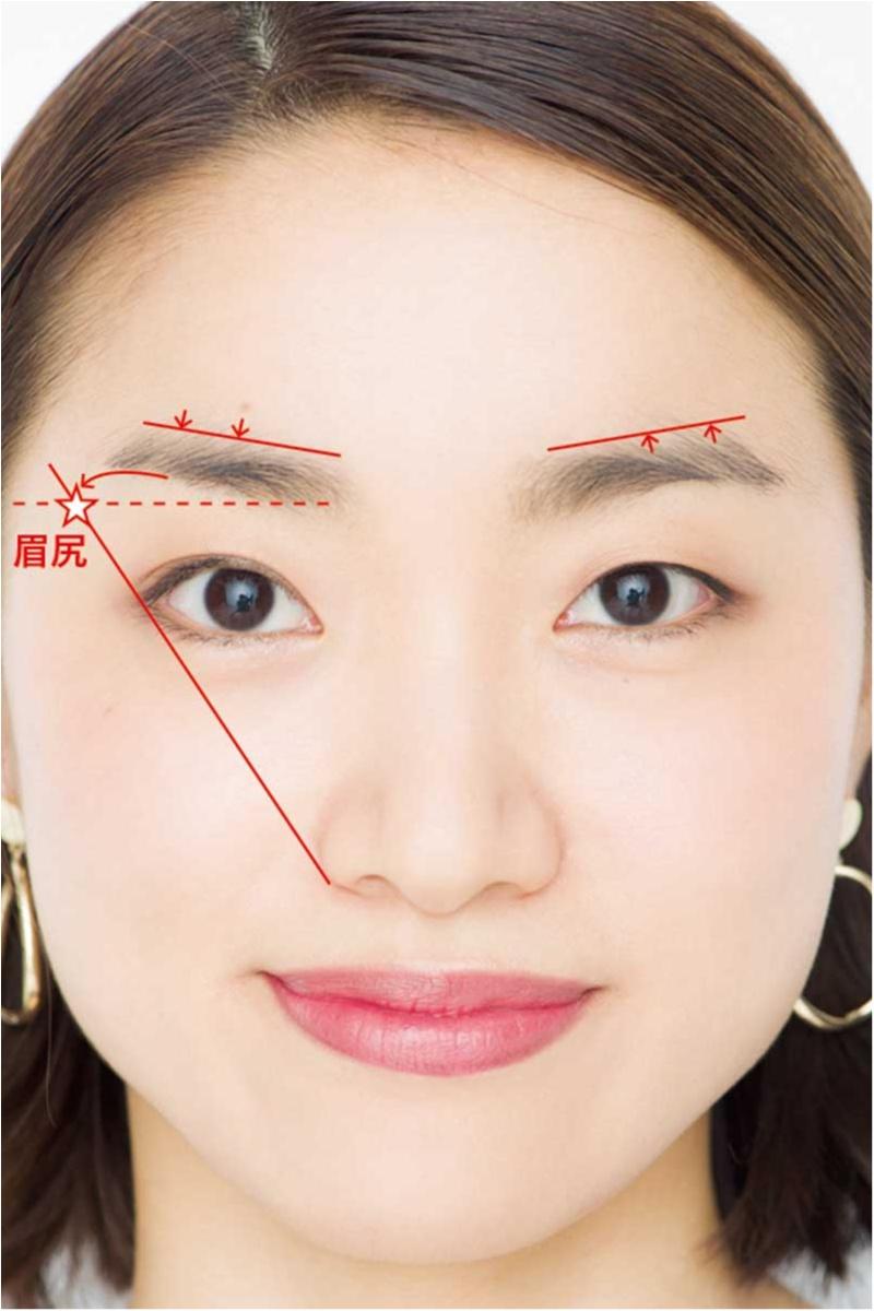 えら張り、丸顔etc. 顔の形のお悩みを即クリア。眉を変えるだけ!!「劇的小顔」テク♡_9_1
