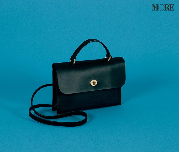 ミミの黒レザーバッグ