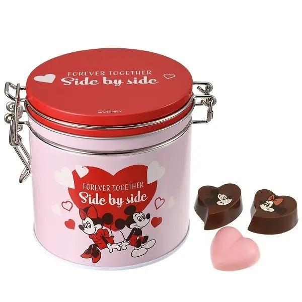 2021バレンタインのミッキー&ミニーの缶入りチョコレート