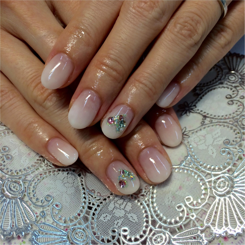 6月Nail*「シャーベットホワイトベースに煌めくグリーンハート♡をのせて」by Alisa*_1