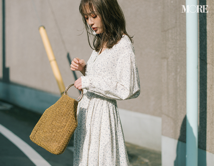 """""""何かある日""""に着たい♡ やっぱり特別な「淡色の花柄ワンピース」を2月に着こなすには?_4"""