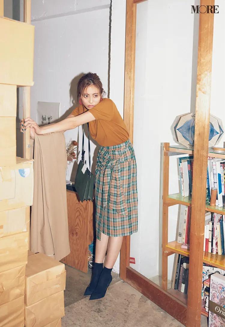 【2020夏コーデ】チェック柄スカートの日は、柄の一色をほかの服とリンクさせる