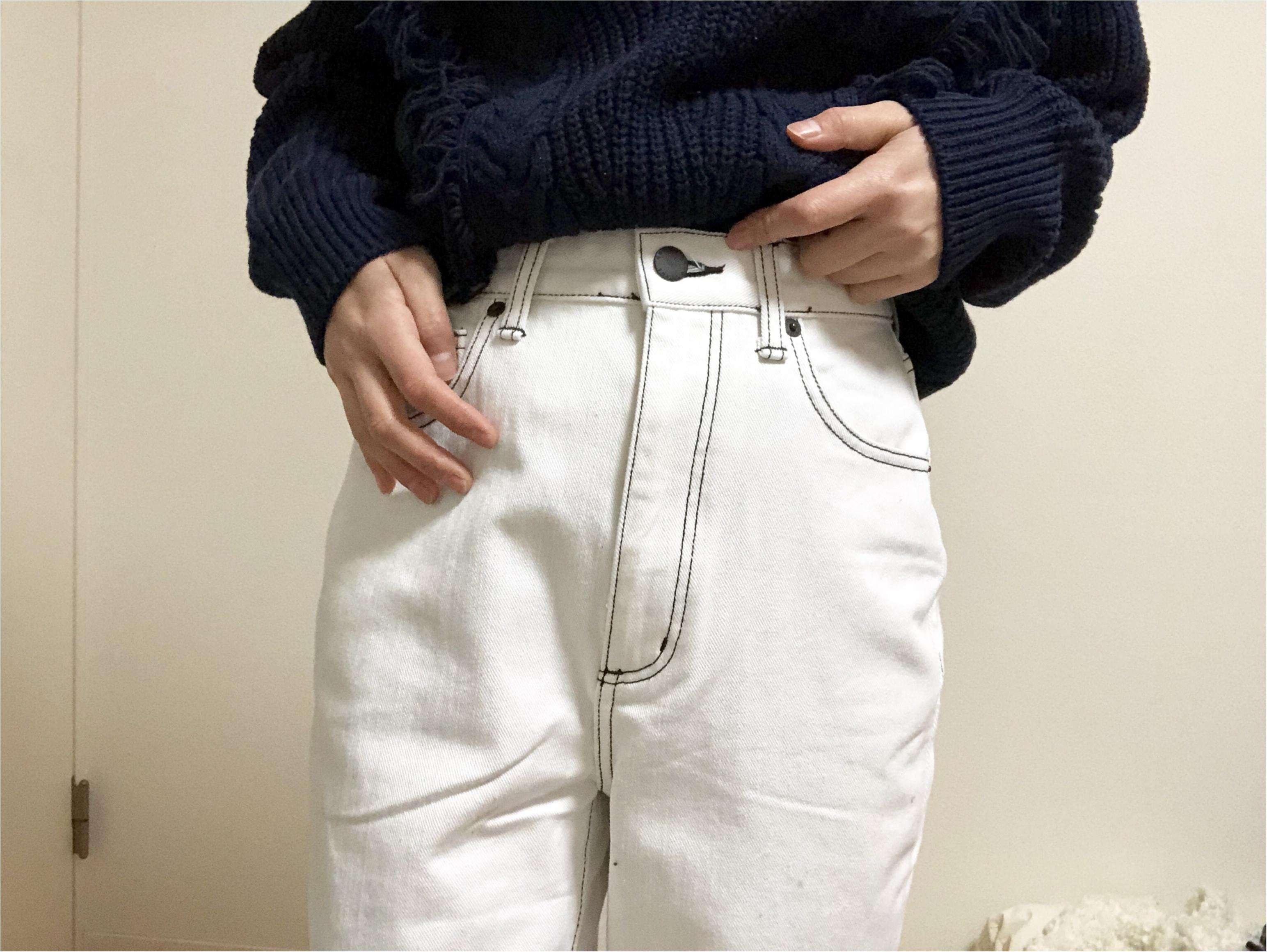 冬の買い足しアイテムに☆【GU】Instagramで話題の《ハイウエストストレートジーンズ》早速ゲット〜!_6