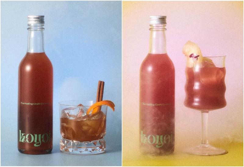 おしゃれすぎる低アルコールクラフトカクテル『koyoi』。「TAKIBI」と「Peachfull moment」のイメージビジュアル