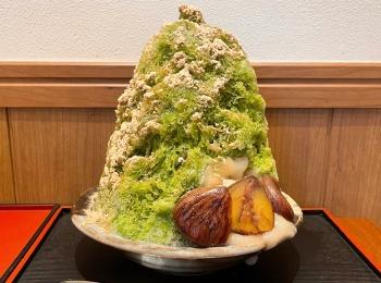 【カフェ活】《和栗と玄米茶》の香ばしさが美味しい《秋のかき氷》が絶品!