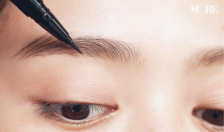 眉でデカ目を作るテク、教えます。アイブロウリキッドで地毛のような「1㎜接近眉」に♡ 『インテグレート』『セルヴォーク』がおすすめ_2