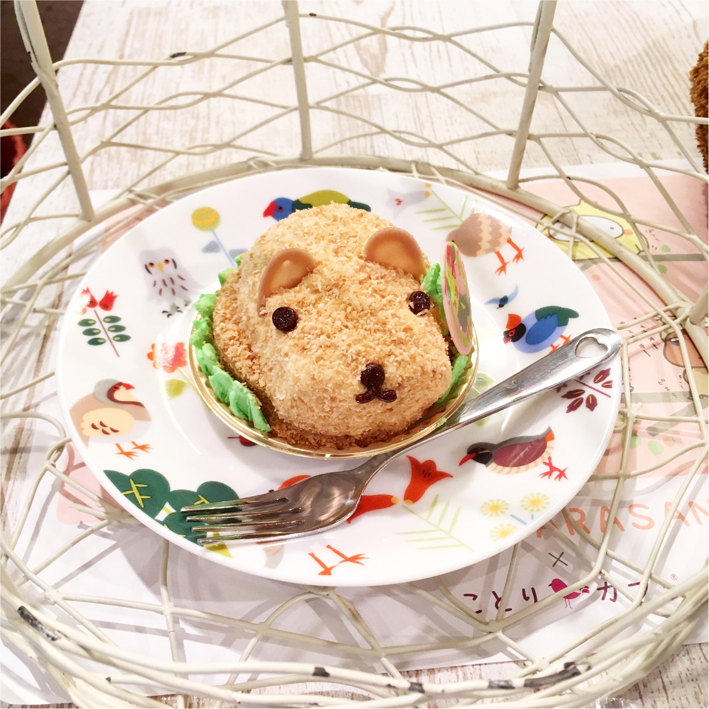 『カピバラさん×ことりカフェ』コラボ♡ことりカフェ表参道店でカピバラさんケーキを食べてきました(﹡´◡`﹡ )_8