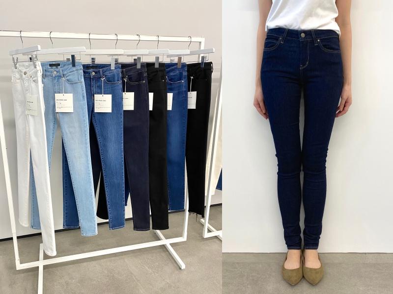 『ユニクロ』のジーンズ全種類はき比べ! スカート風、美脚見え、腰ばき…春はどのシルエットでいく?_6
