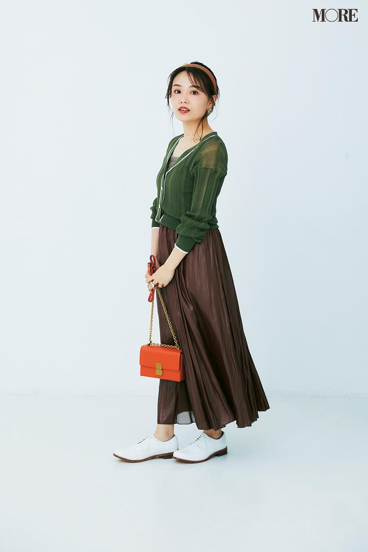 小柄さんに似合うスカートはギャザープリーツ