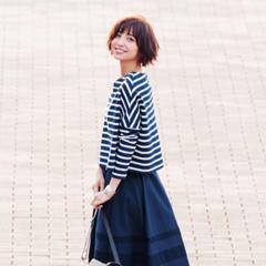 【2月に買って4月までずっと着る!】篠田麻里子のスカート着まわし×3