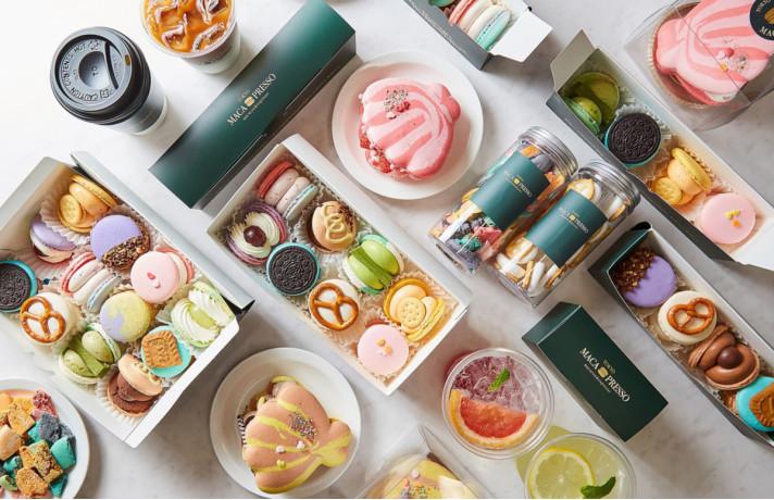 大阪・心斎橋PARCOにオープンした、カラフルな色使いが特徴的な韓国式マカロン「トゥンカロン」を楽しめる韓国マカロン専門店&カフェ 『MACA PRESSO』