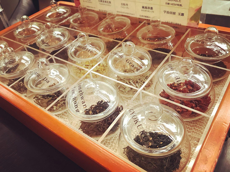 ガーデンラウンジ「坐忘」のアフタヌーンティーの茶葉