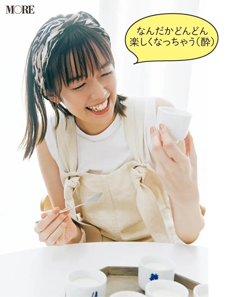 滋賀県からお取り寄せしたチーズケーキを食べる佐藤栞里