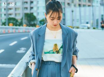 【今日のコーデ】<鈴木友菜>こなれたジャケットセットアップ+フォトTシャツで誰より上級者っぽく♪