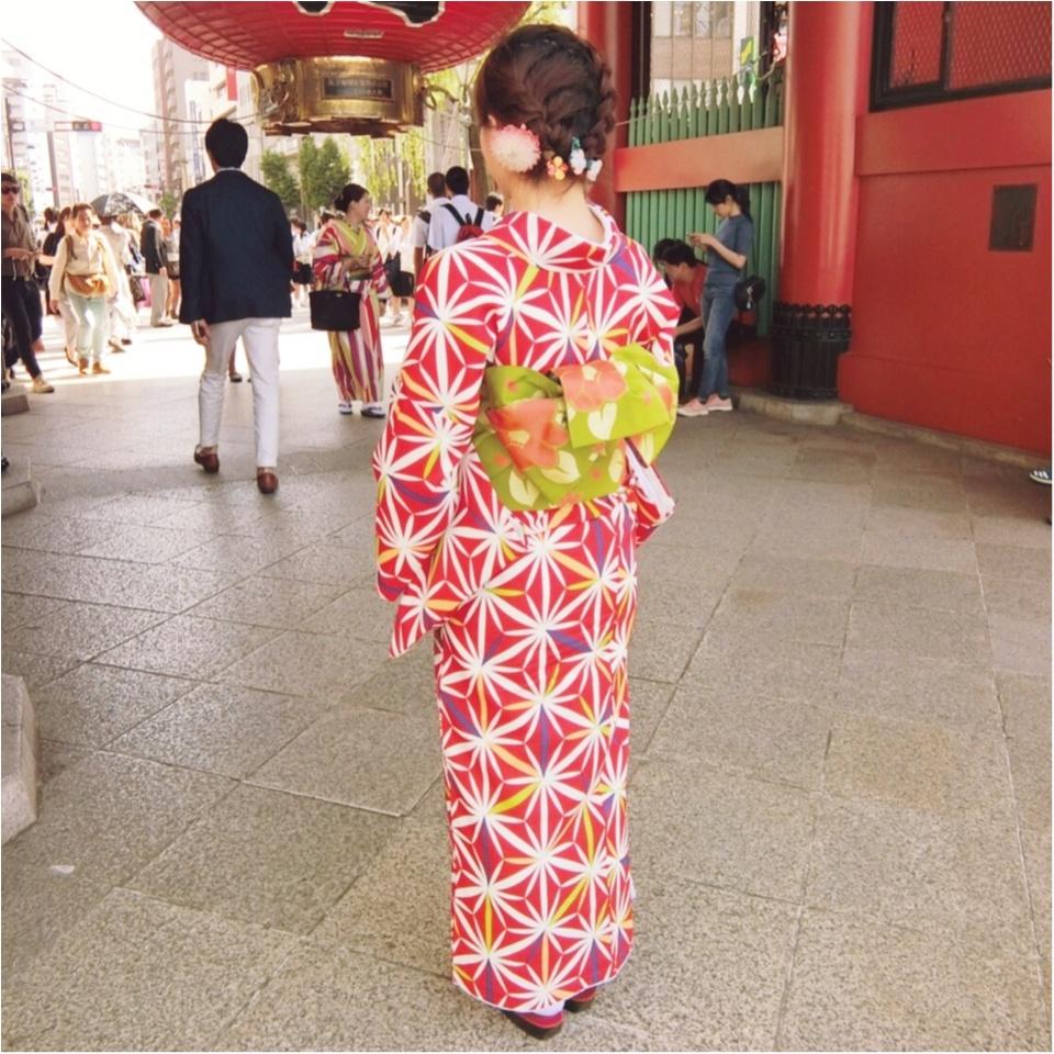 《小物・かんざし付きで¥2,900!》レンタル着物で浅草散策してきましたっ♡_1