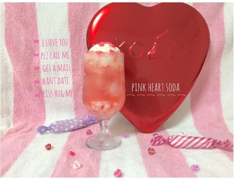 【FOOD】\ 愛ちあん Cafe♥︎ / 恋に効く♡?ハートがたっぷり♡とびきりcuteなPink Heart soda♡_6