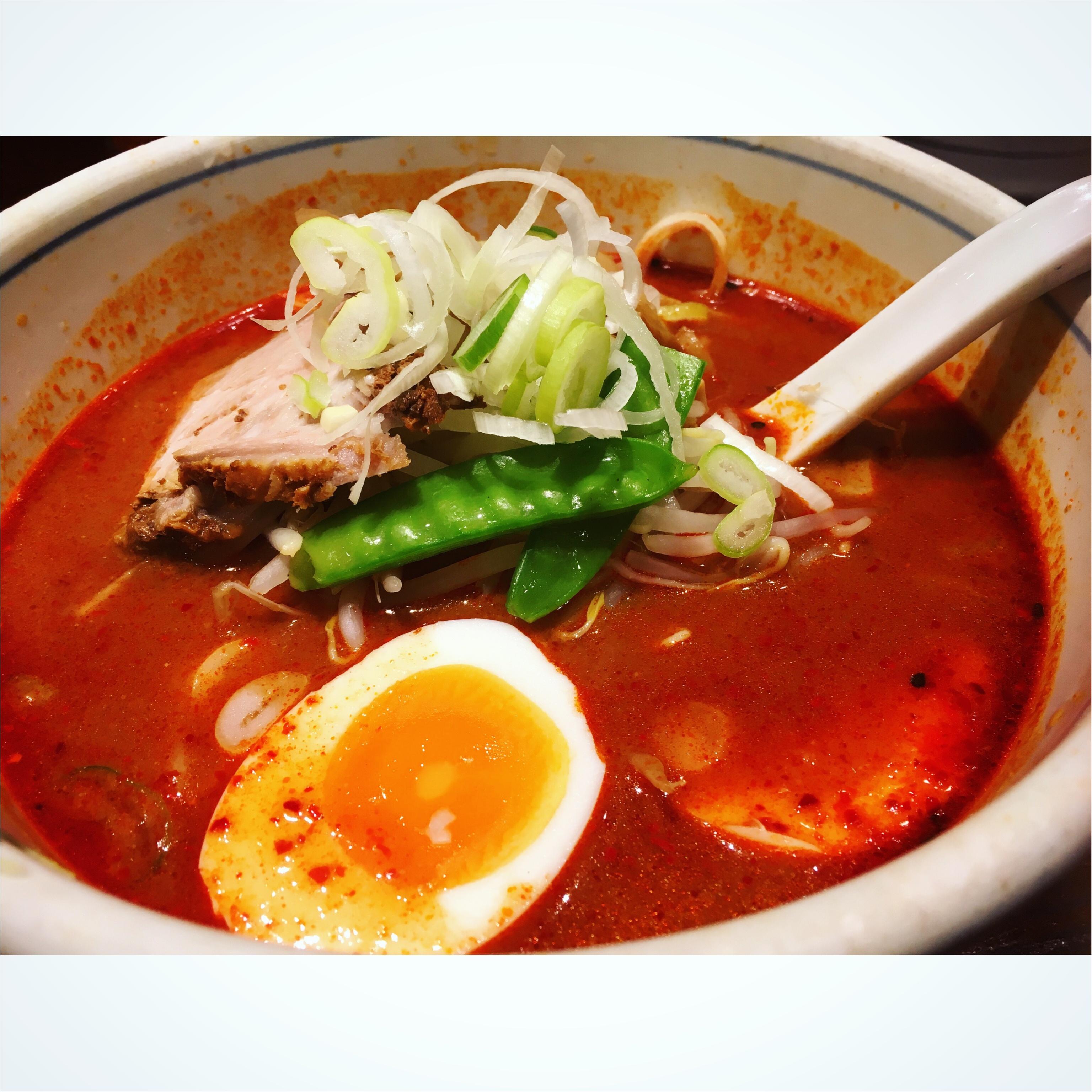 赤坂で食べたピリ辛ラーメン。_2