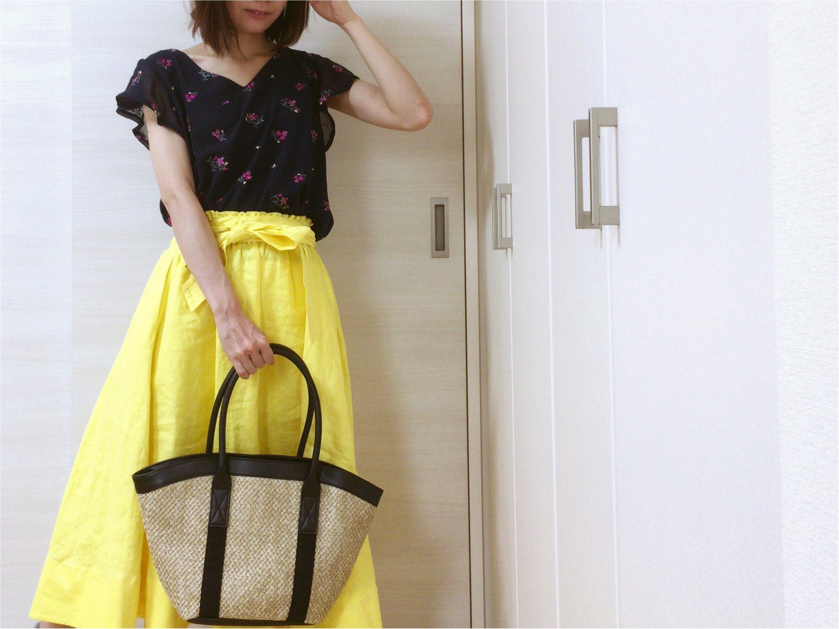 即使える【夏コーデ3選】流行!《イエロースカート》カジュアルからオフィス・休日まで簡単着回し♡_5