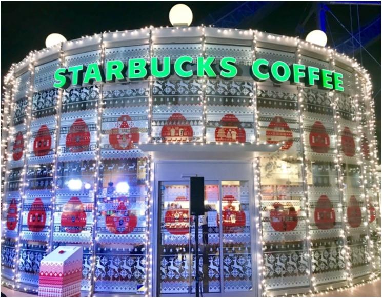 スタバが東京ドームシティ ラクーア店で、初のイルミネーションを開催中♡ なんとお店がクリスマスケーキに!!_1