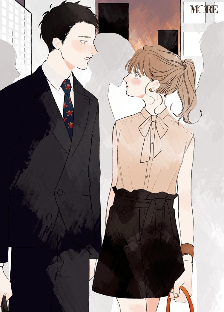 初デートは大人配色で……まさかの展開。同僚3人の恋物語『涼しげ寒色服着回し』19日目_3