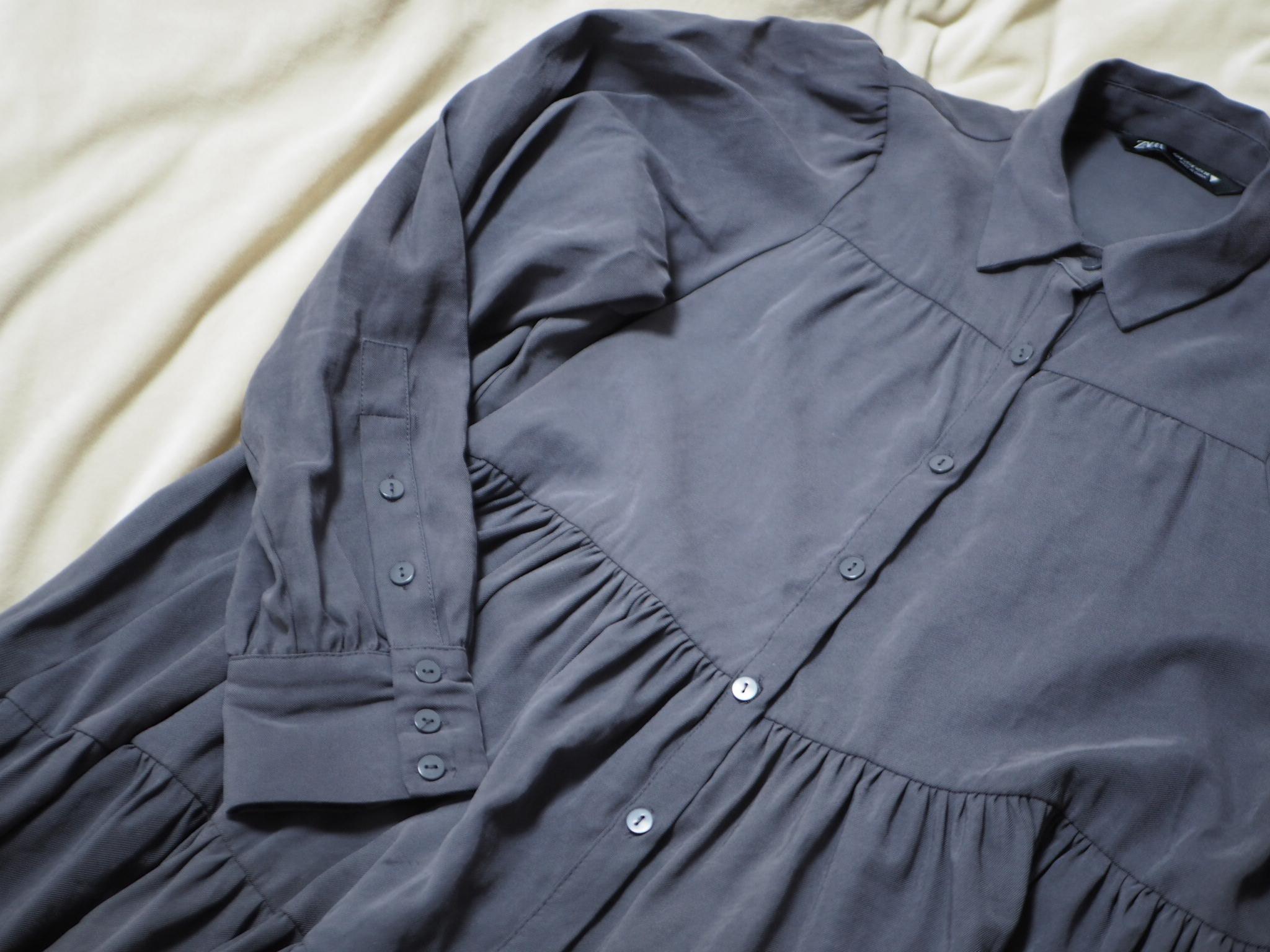 【ZARA】今から春まで着回せる! おすすめのトレンド服《ティアードシャツ》★_2