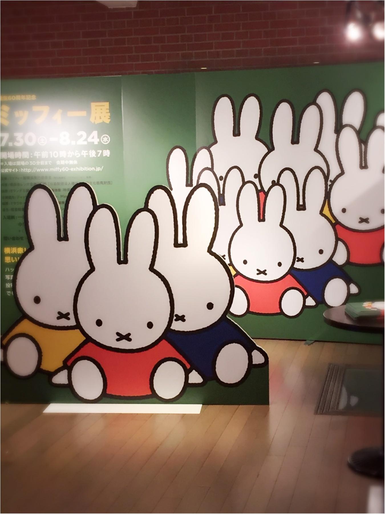 お口の✖︎、白くて長い耳と言えば…横浜赤レンガのミッフィー展へ行ってきました^ ^_1
