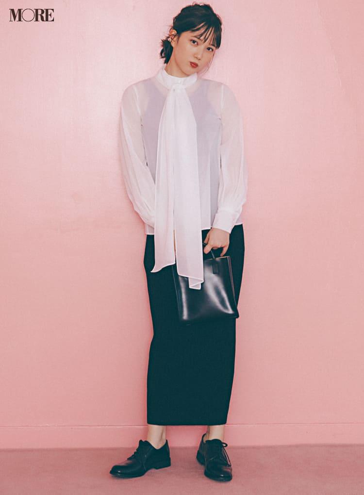 シースルーシャツのコーデ特集 - 透けるシャツ・ブラウスのおしゃれなコーディネートまとめ_17
