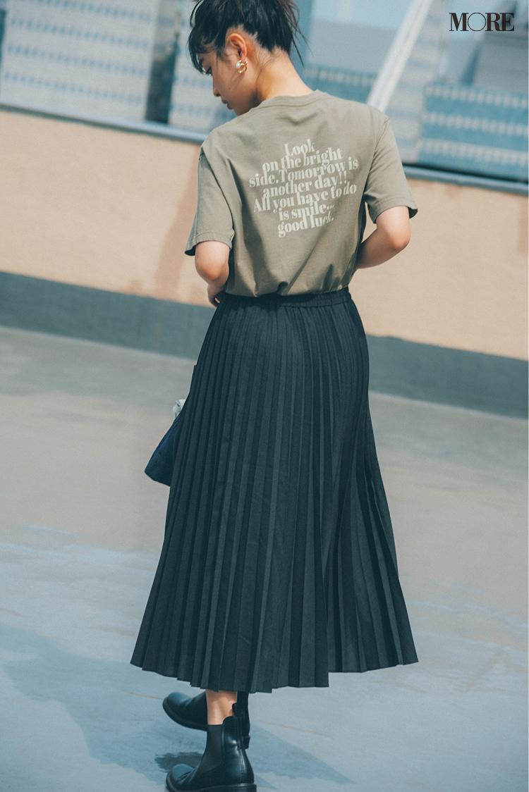 スタイリストがユニクロで愛用するプリーツスカート
