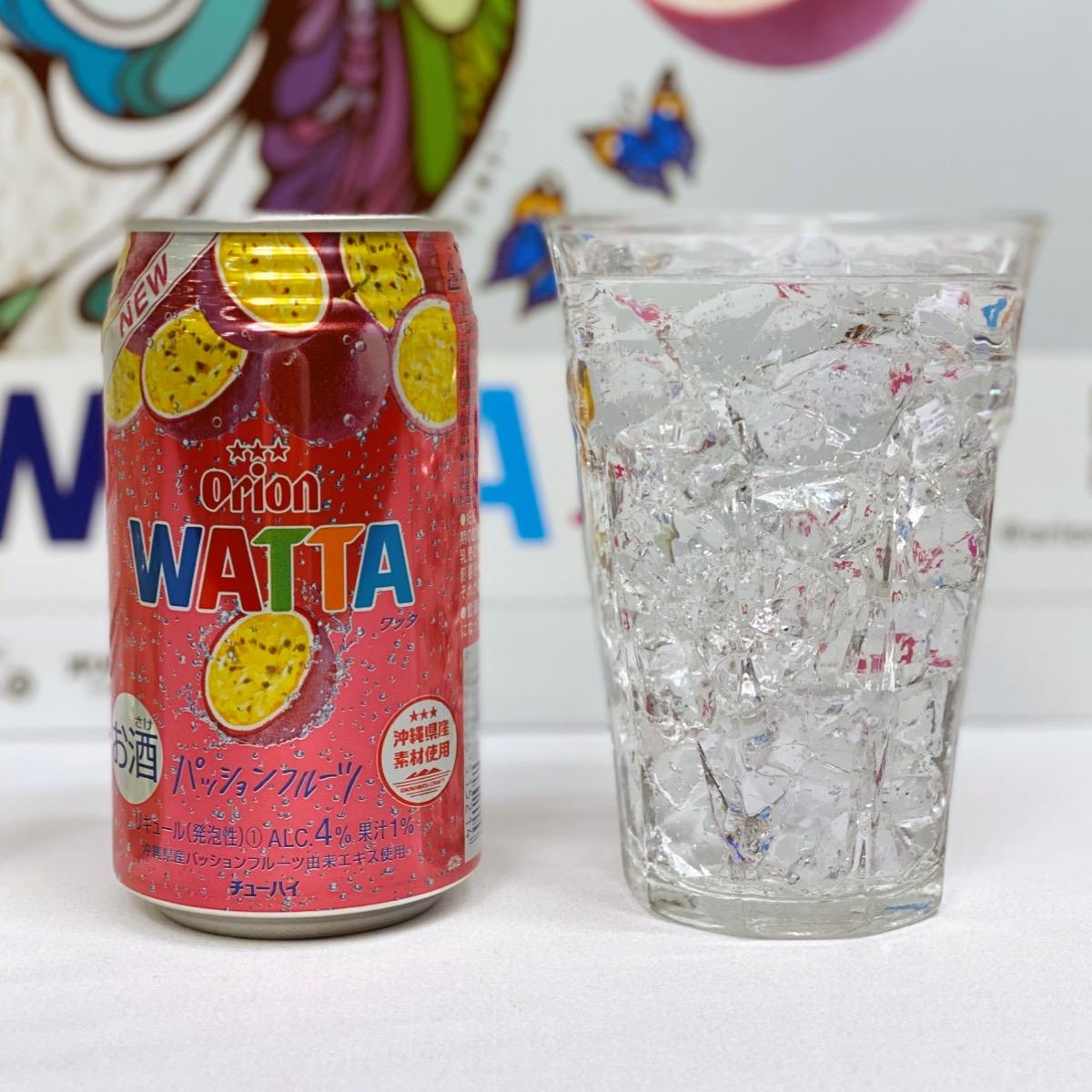 オリオンビールのチューハイWATTAワッタパッションフルーツ