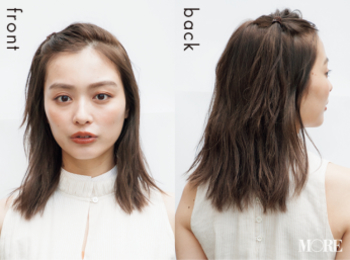 【梅雨どきヘアアレンジ】ゴム1本で作るポンパドールで新鮮ヘアに!PhotoGallery