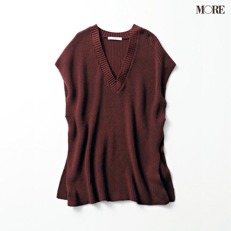 白Tシャツに重ねるだけで。【ニットベスト】は真っ先に飛びつきたい秋服No.1!_3