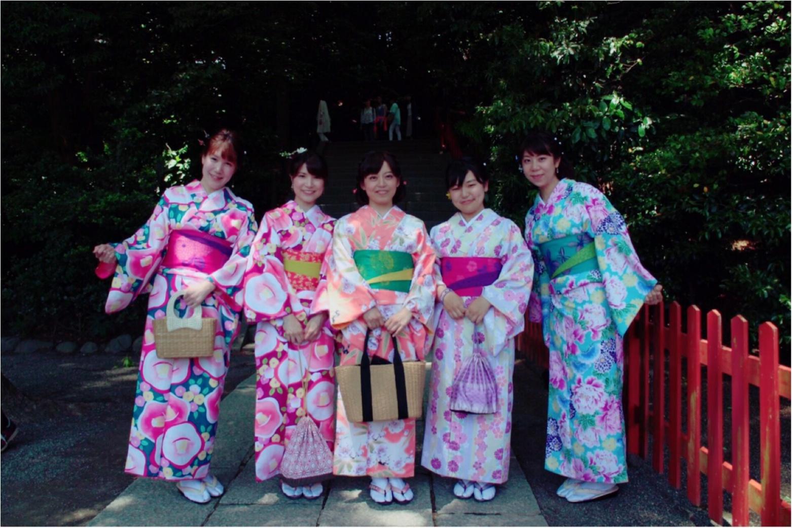 レンタル着物で鎌倉へ!私の着物コーデをご紹介!_1